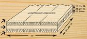 Деревянная трехслойная  плита из цельной древесины - оптом.